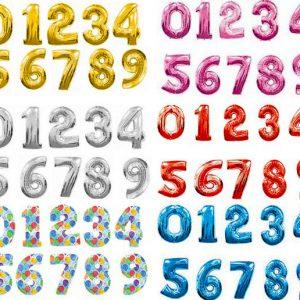 Шар-сюрприз, цифры, буквы